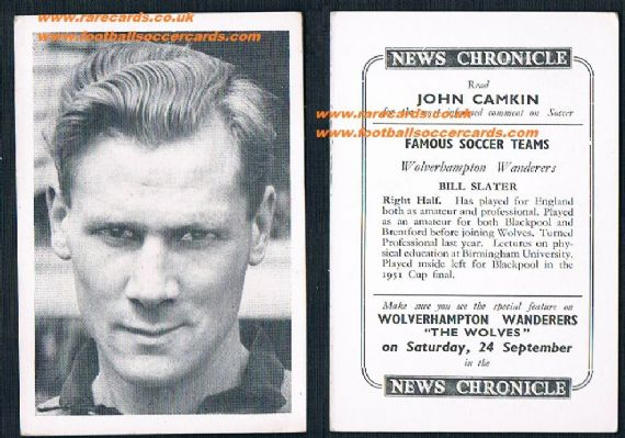 1955 Wolves News Chronicle Slater